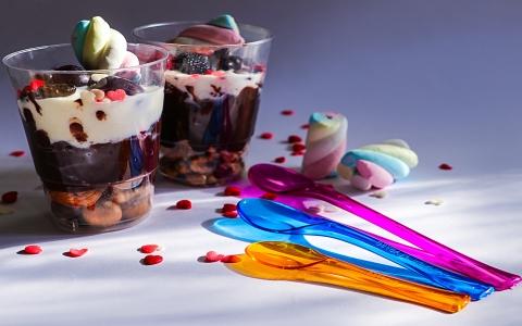 لیوان فیروزه / قاشق بستنی سری لوکس